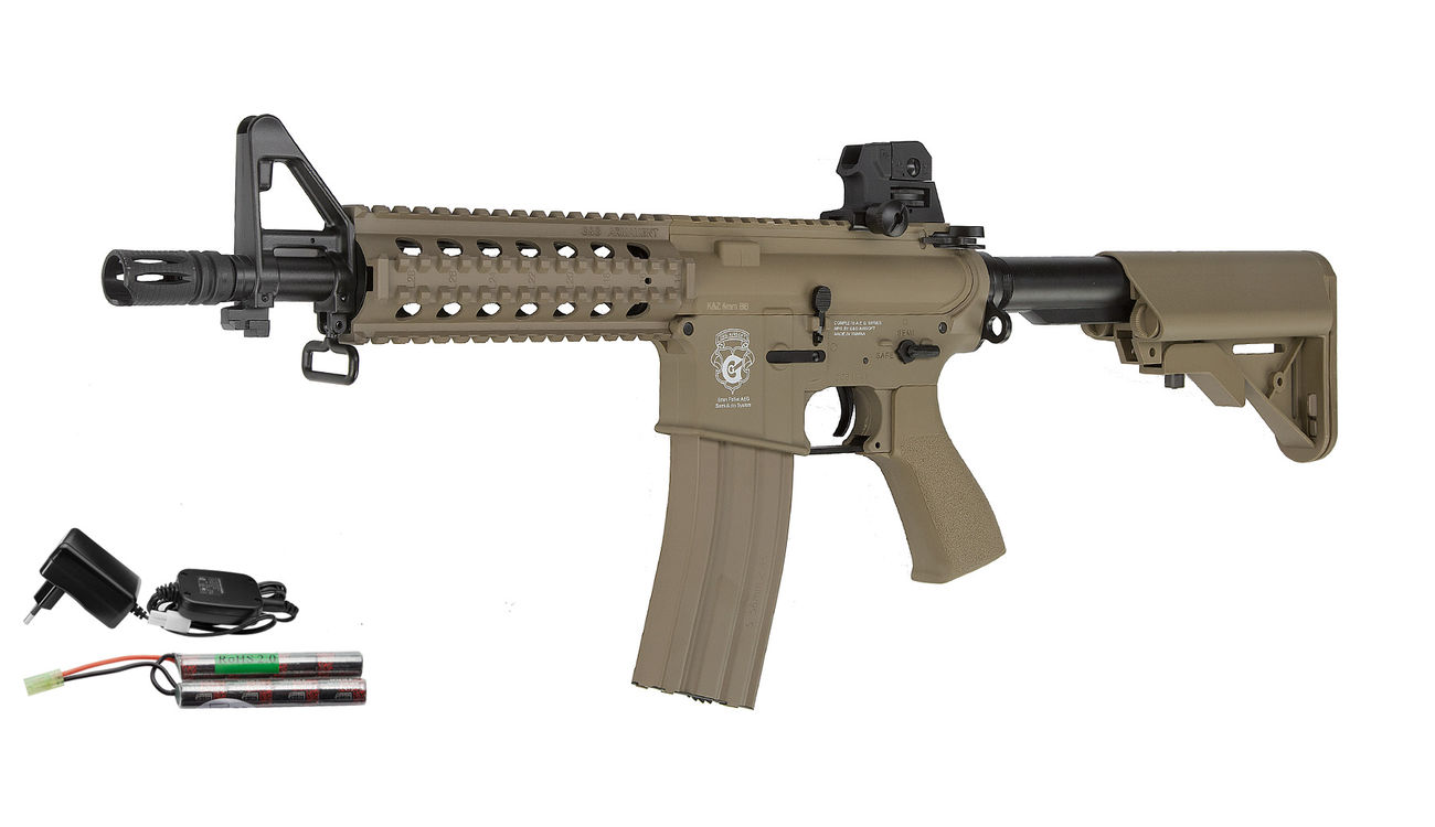 G&G GR15 RIS Raider S BlowBack Komplettset AEG 6mm BB Desert Tan 0
