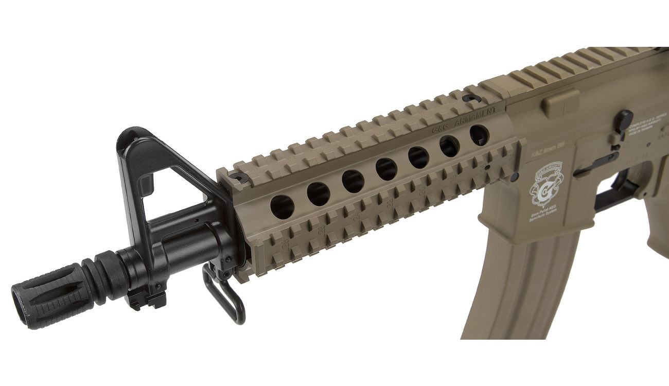 G&G GR15 RIS Raider S BlowBack Komplettset AEG 6mm BB Desert Tan 4