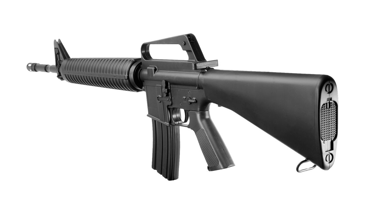 Well M16A2 Rifle Springer Softair 6mm BB schwarz 3