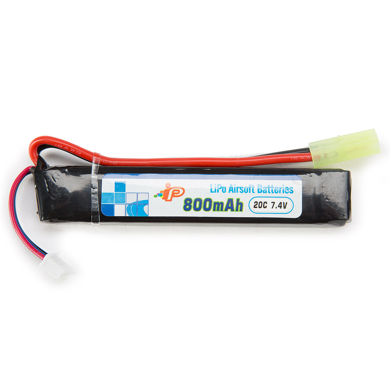 Intellect LiPo Akku 7,4V 800mAh 20C Stock-Tube Type 1