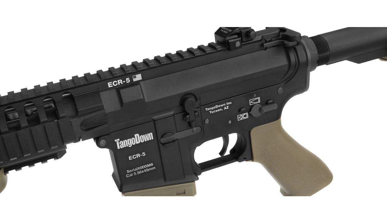 Evolution Airsoft TangoDown ECR-5 Vollmetall S-AEG 6mm BB Tan / schwarz 5