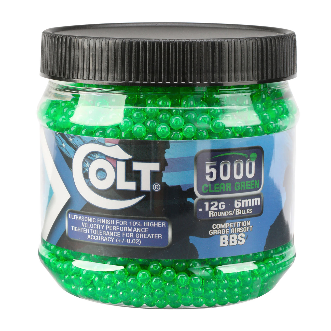 Cybergun Colt Competition Grade BBs 0,12g 5.000er Container Clear Green 0