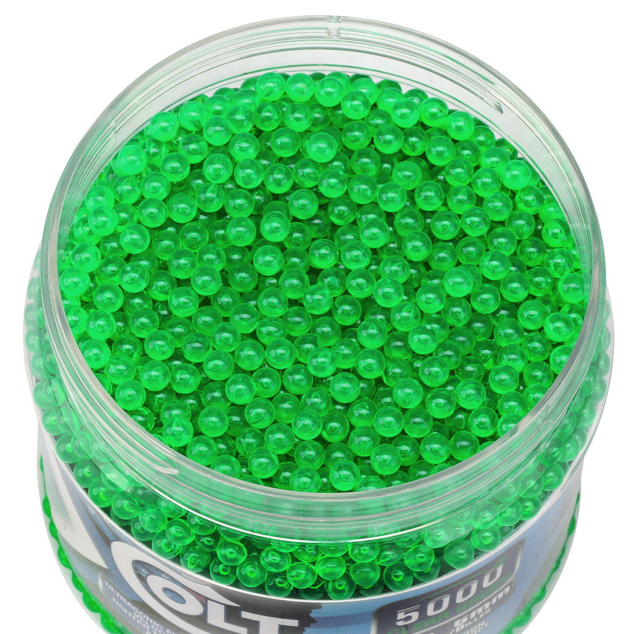 Cybergun Colt Competition Grade BBs 0,12g 5.000er Container Clear Green 1