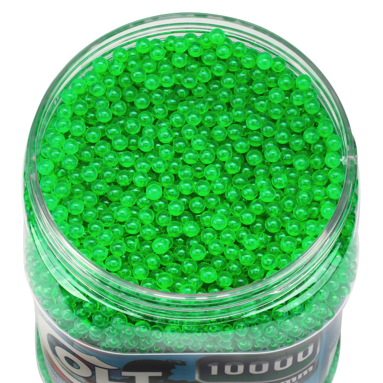 Cybergun Colt Competition Grade BBs 0,12g 10.000er Container Clear Green 1
