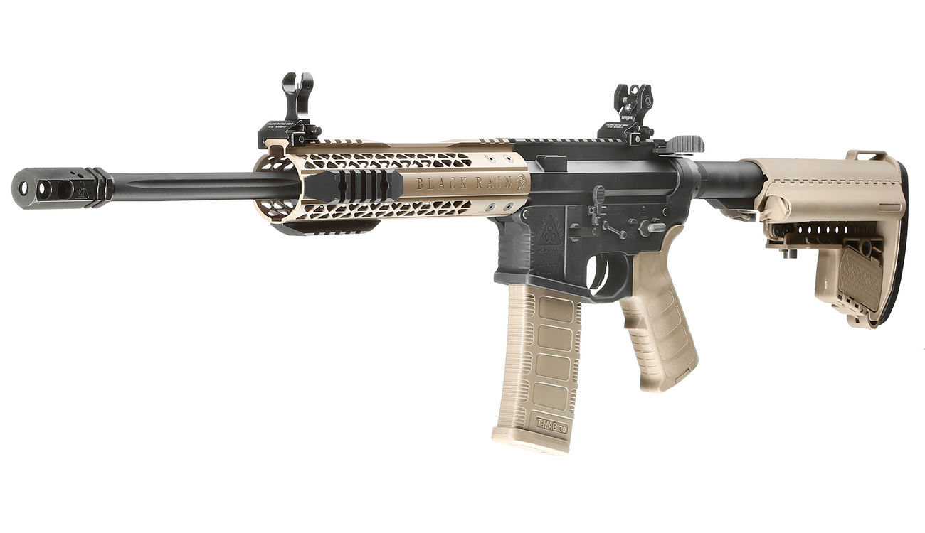 King Arms Black Rain Ordnance Fallout 15 CQB Vollmetall S-AEG 6mm BB Dark Earth 0