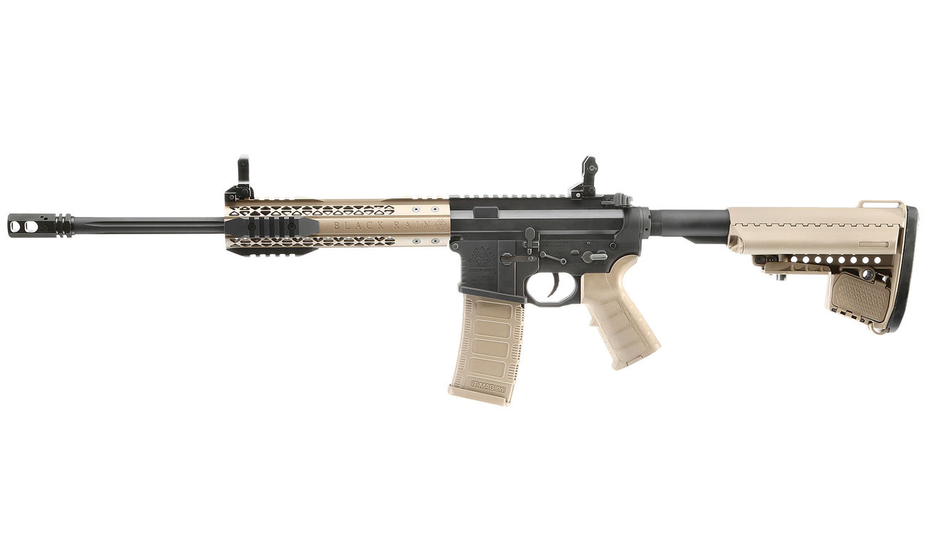 King Arms Black Rain Ordnance Fallout 15 CQB Vollmetall S-AEG 6mm BB Dark Earth 1