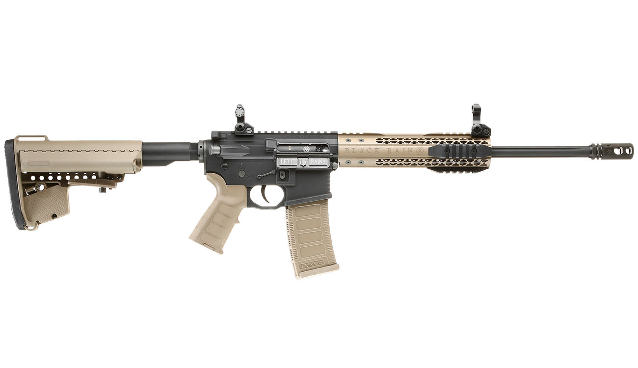 King Arms Black Rain Ordnance Fallout 15 CQB Vollmetall S-AEG 6mm BB Dark Earth 2