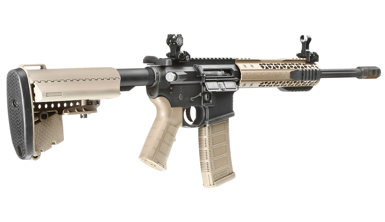 King Arms Black Rain Ordnance Fallout 15 CQB Vollmetall S-AEG 6mm BB Dark Earth 3