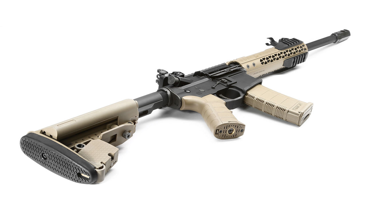 King Arms Black Rain Ordnance Fallout 15 CQB Vollmetall S-AEG 6mm BB Dark Earth 4