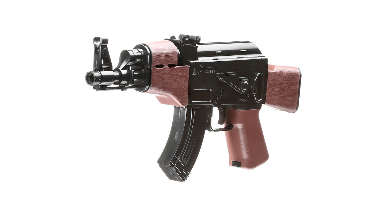 UHC Mini AK47 Kidz Action-Rifle AEG 6mm BB schwarz / braun 0
