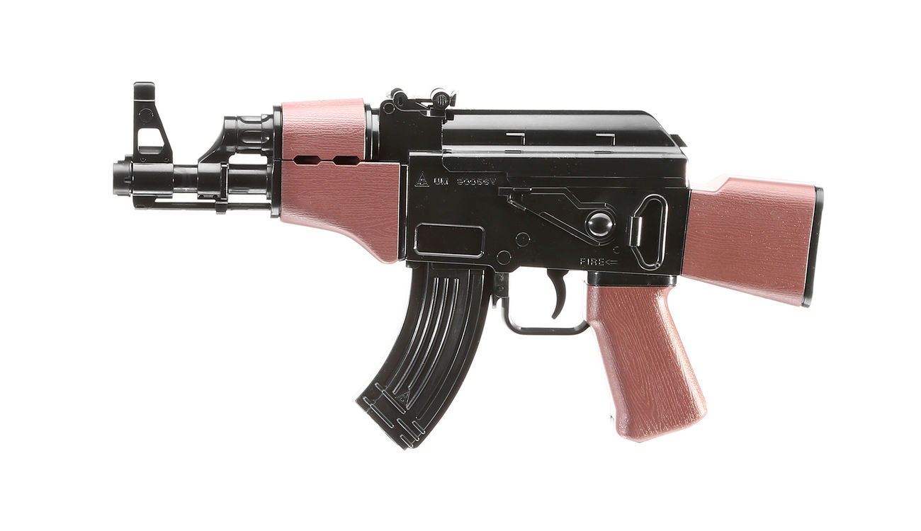 UHC Mini AK47 Kidz Action-Rifle AEG 6mm BB schwarz / braun 1