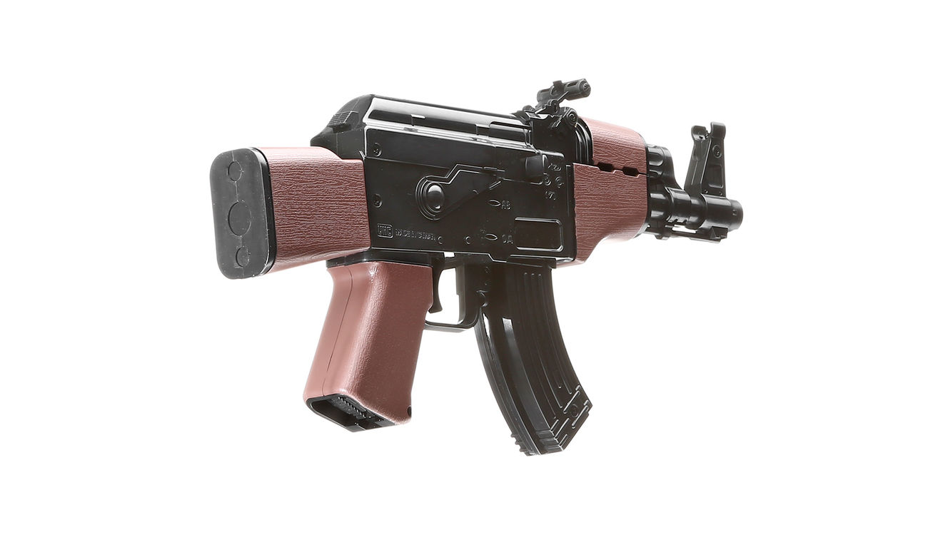 UHC Mini AK47 Kidz Action-Rifle AEG 6mm BB schwarz / braun 3