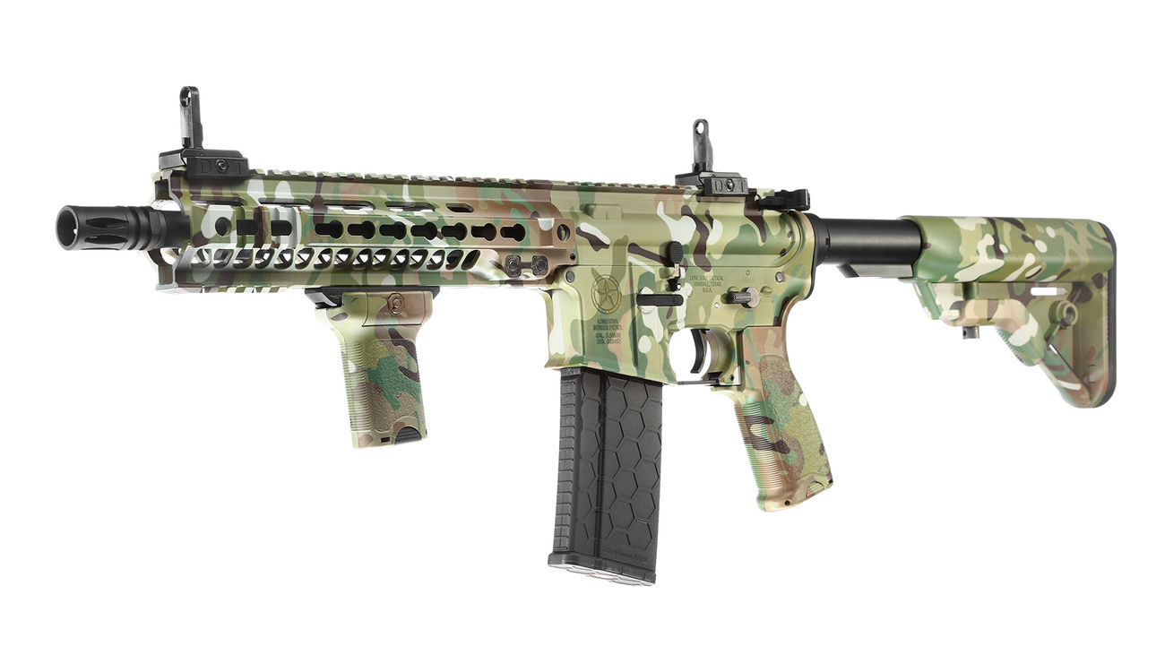 Evolution-Dytac Lone Star MK4 SMR 10.5 Zoll Vollmetall S-AEG 6mm BB Multicam 0