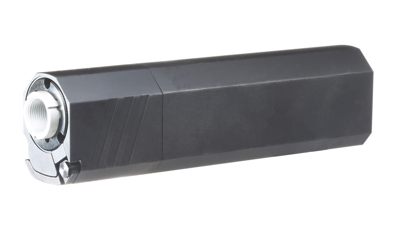 SilencerCo Airsoft Osprey 45-K Aluminium Mock Suppressor schwarz 14mm- 1