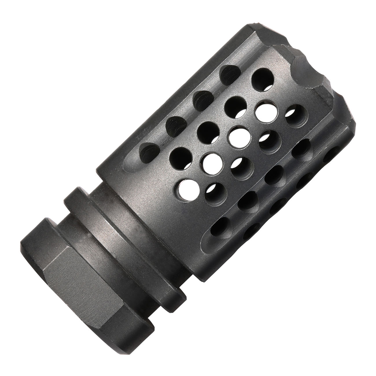 Dytac / SLR Stahl Synergy Mini Compensator Flash-Hider stahlgrau 14mm- 4