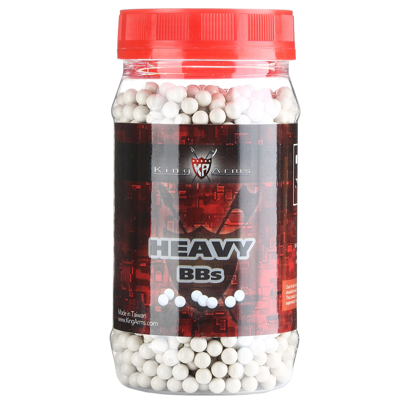 King Arms Heavy Series BBs 0,40g 2.000er Container weiss 0