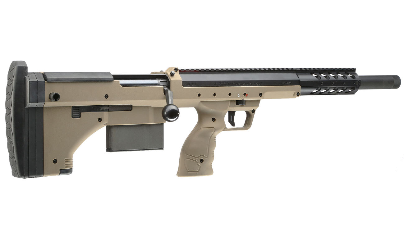 Silverback Desert Tech SRS-A1 Covert Sport 20 Zoll Pull-Bolt Bullpup Springer 6mm BB Flat Dark Earth - 2018 Version Gen. 3 3