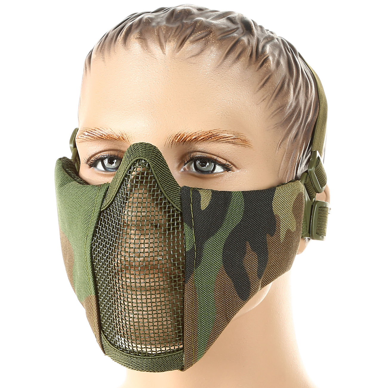 101 INC. Airsoft Gittermaske woodland 0