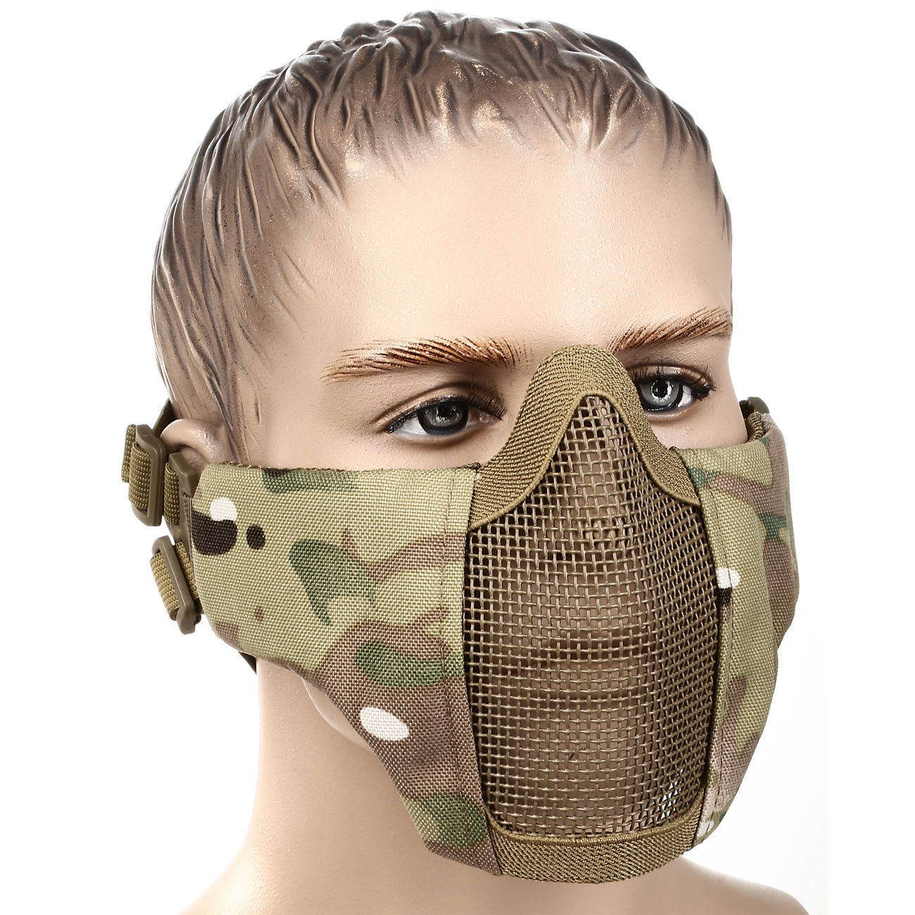 WoSport WST Airsoft Gittermaske Lower Face MC-Camo 0
