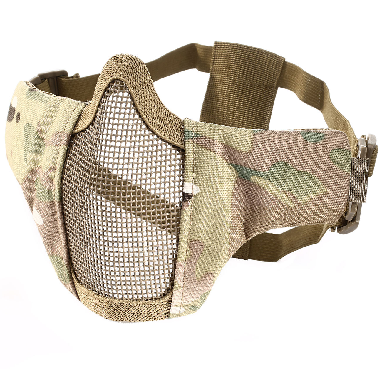 WoSport WST Airsoft Gittermaske Lower Face MC-Camo 1