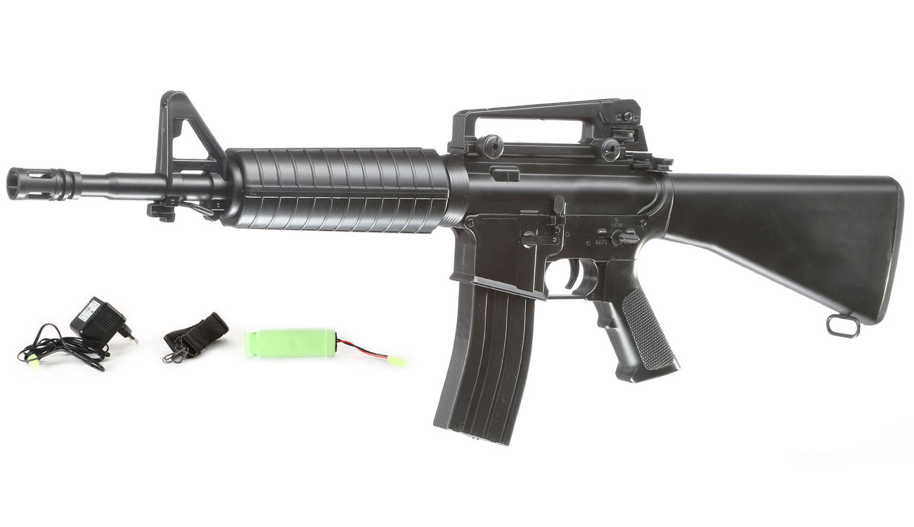 Well M4A1 Rifle Komplettset AEG 6mm BB schwarz 0