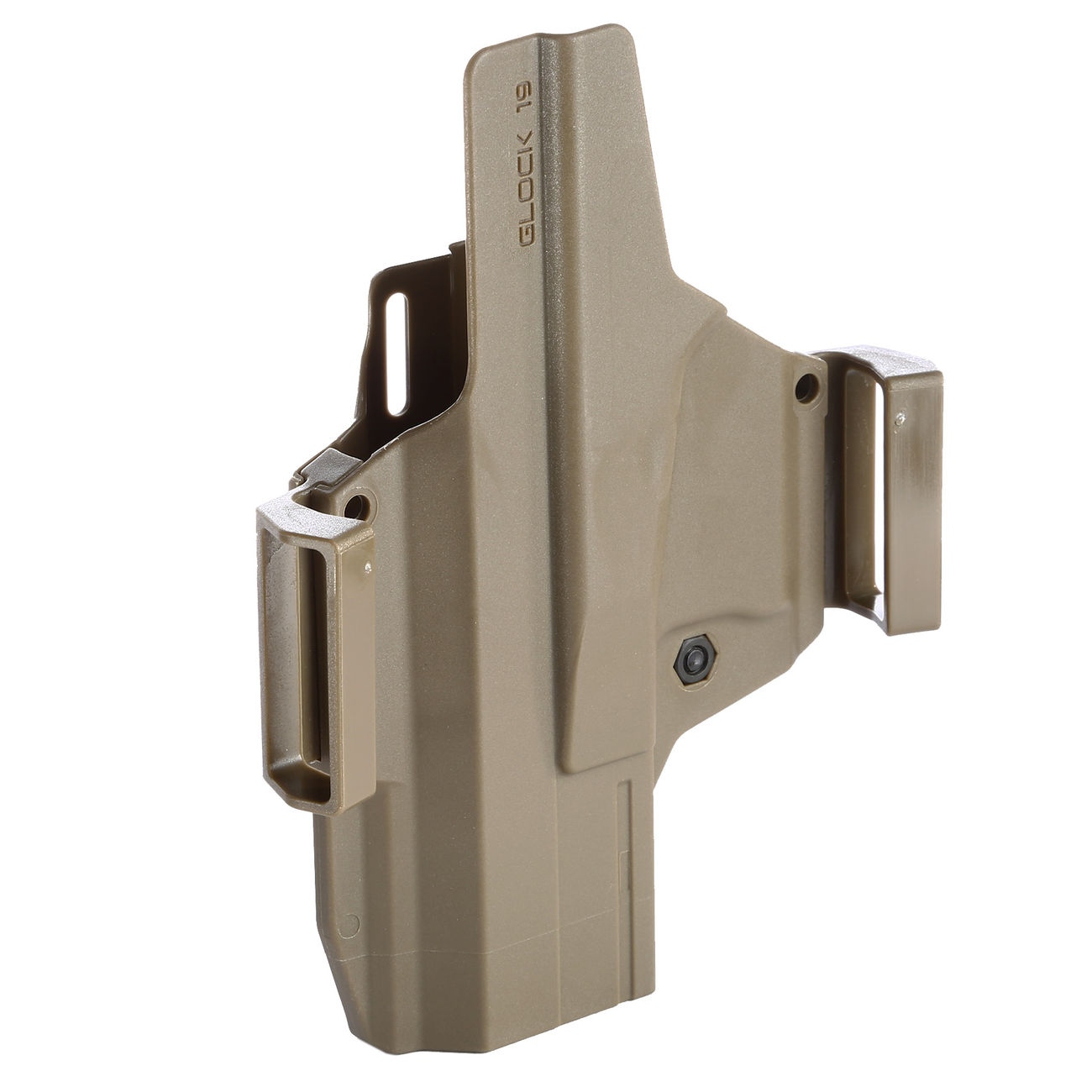 IMI Defense MORF X3 Polymer Holster IWB / OWB / Paddle für Glock 19 Rechts / Links Tan 5