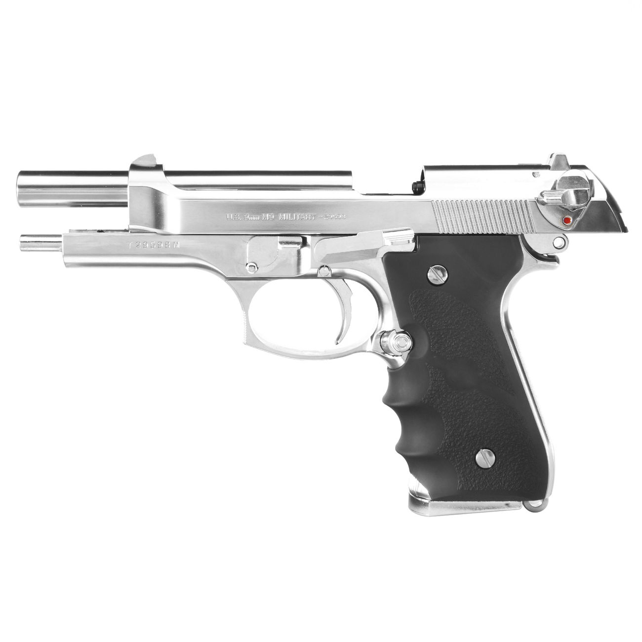 Tokyo Marui M92F Gas-Blow-Back 6mm BB Chrome Stainless Finish 1