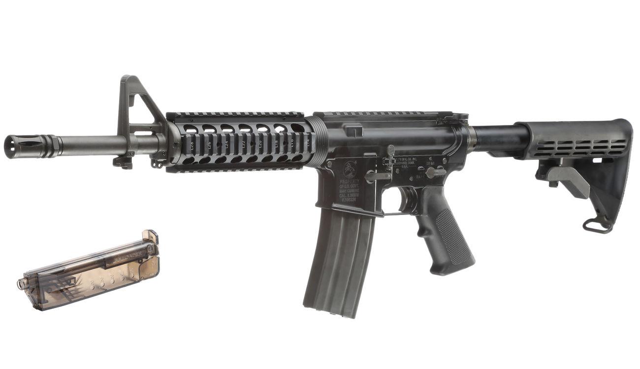 GHK Colt M4 RAS V2 12 5 Zoll Vollmetall Gas-Blow-Back 6mm BB schwarz