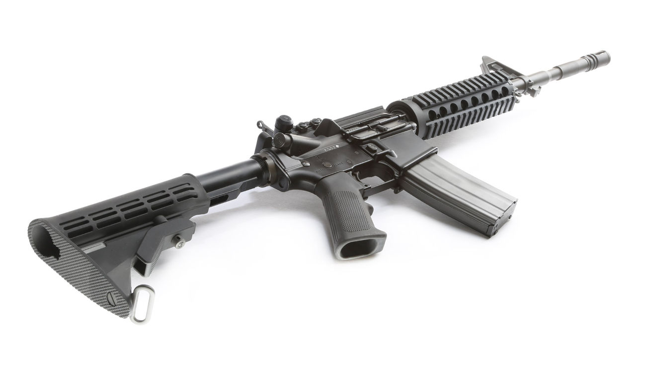 GHK Colt M4A1 Sopmod V2 14 5 Zoll Vollmetall Gas-Blow-Back 6mm BB schwarz