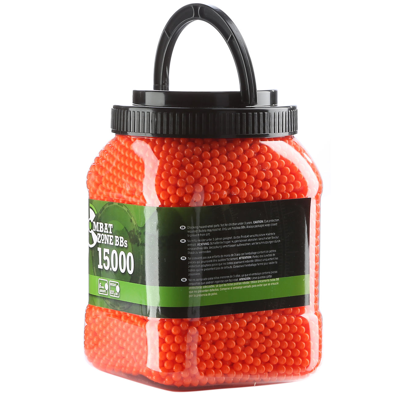 Combat Zone BBs 0,12g 15.000er Container orange-rot 1