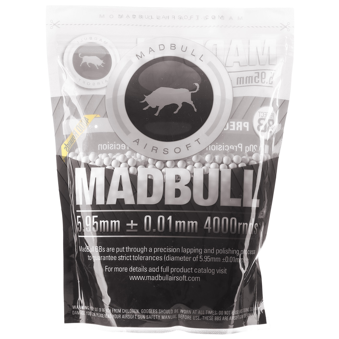 MadBull Perfect Precision BBs 0.25g 4.000er Beutel weiss 0