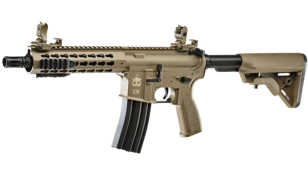 Evolution Airsoft Recon UX4 9 Zoll Carbontech S-AEG 6mm BB Tan 0