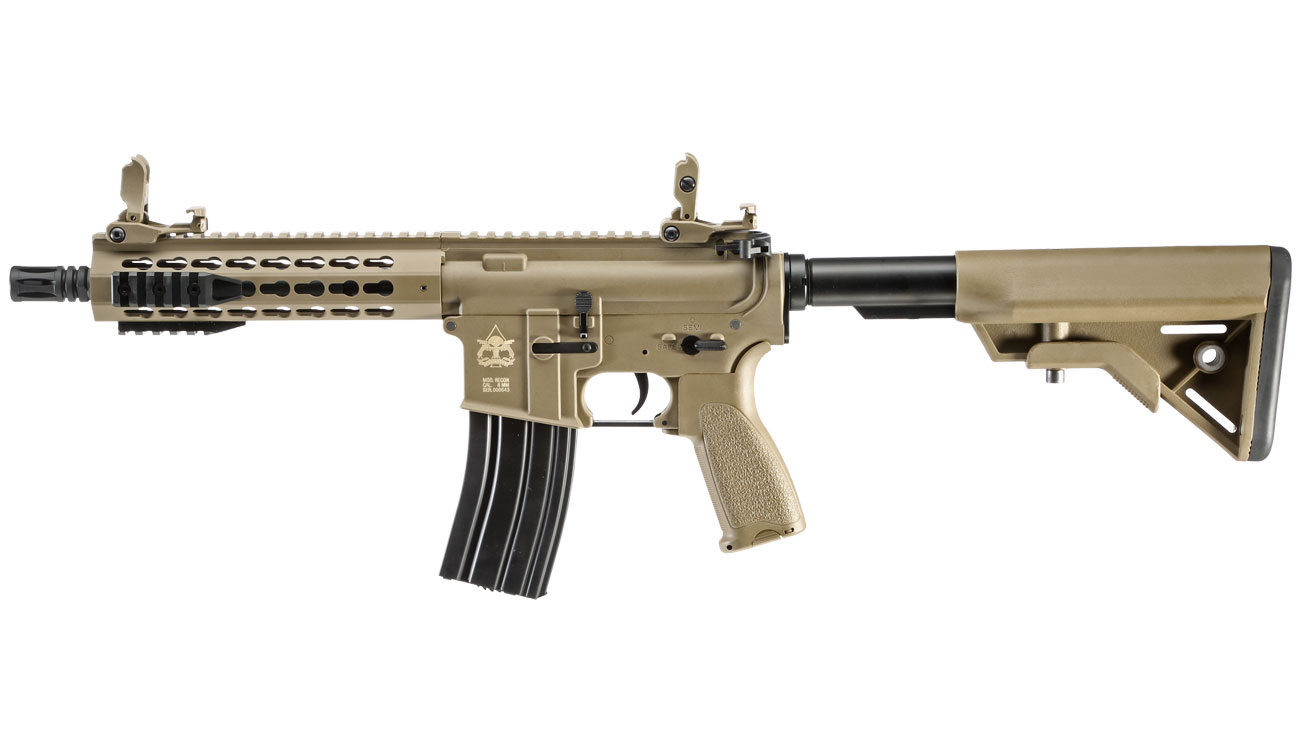 Evolution Airsoft Recon UX4 9 Zoll Carbontech S-AEG 6mm BB Tan 1