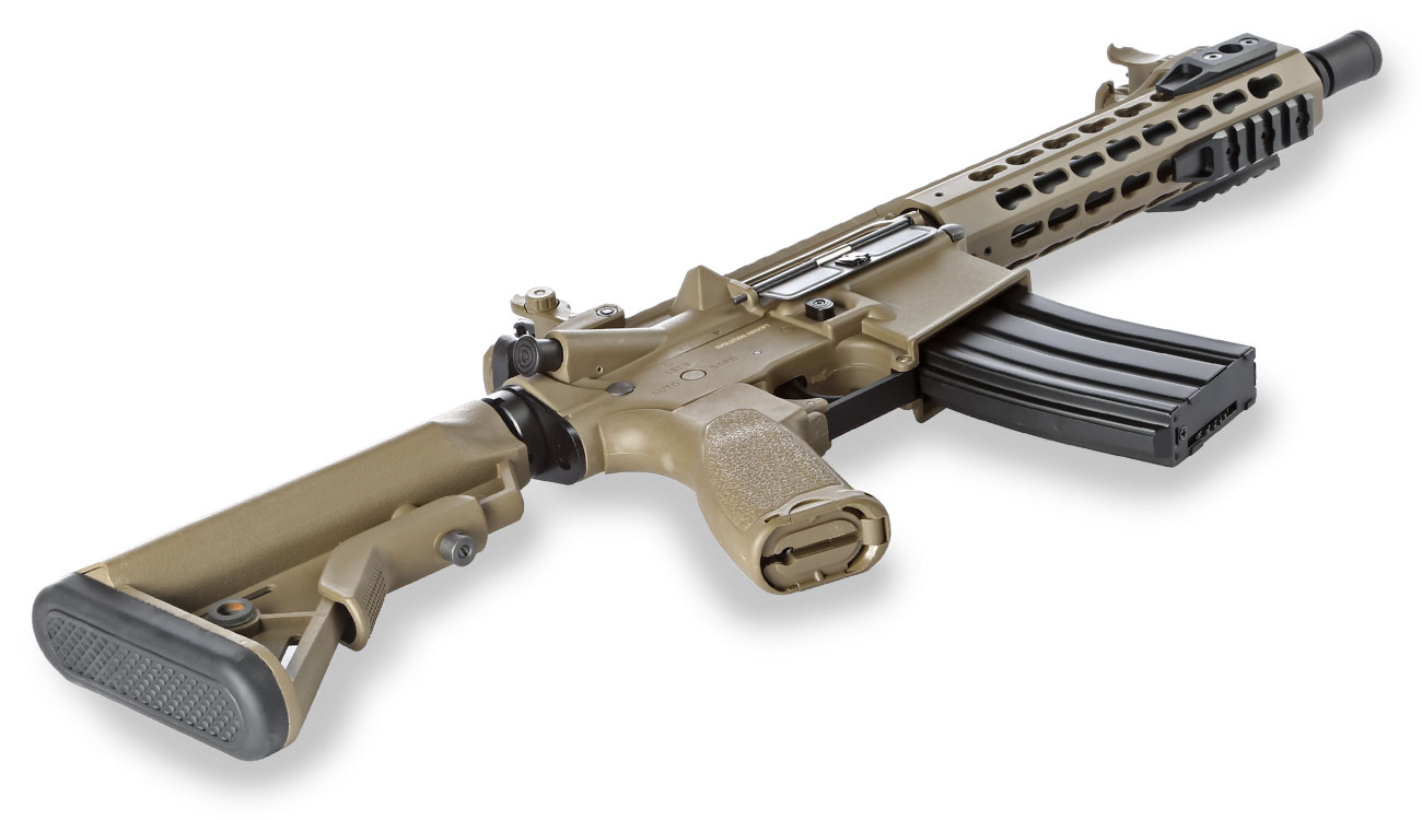 Evolution Airsoft Recon UX4 9 Zoll Carbontech S-AEG 6mm BB Tan 4