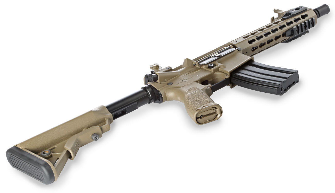 Evolution Airsoft Recon UX4 9 Zoll Carbontech S-AEG 6mm BB Tan 5
