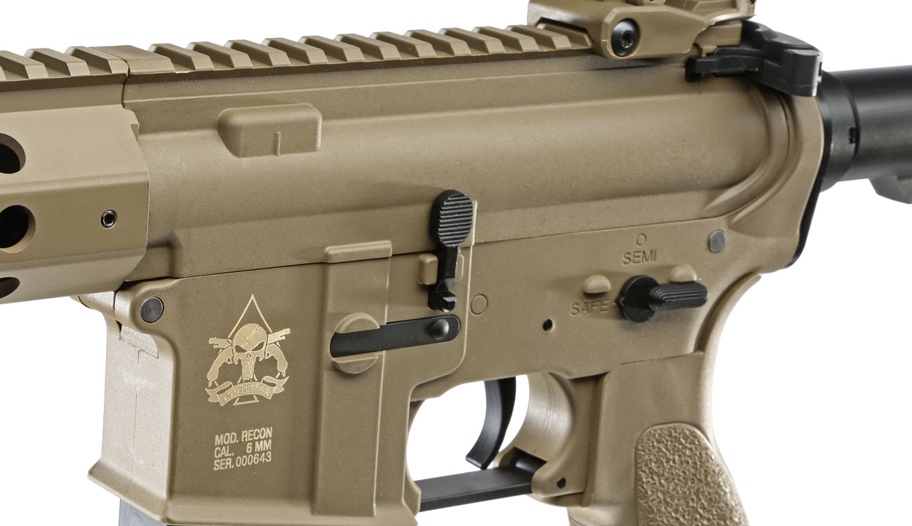 Evolution Airsoft Recon UX4 9 Zoll Carbontech S-AEG 6mm BB Tan 7