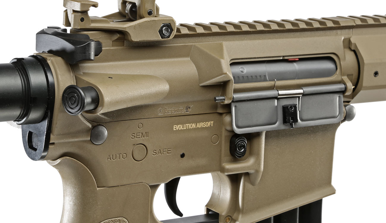 Evolution Airsoft Recon UX4 9 Zoll Carbontech S-AEG 6mm BB Tan 8