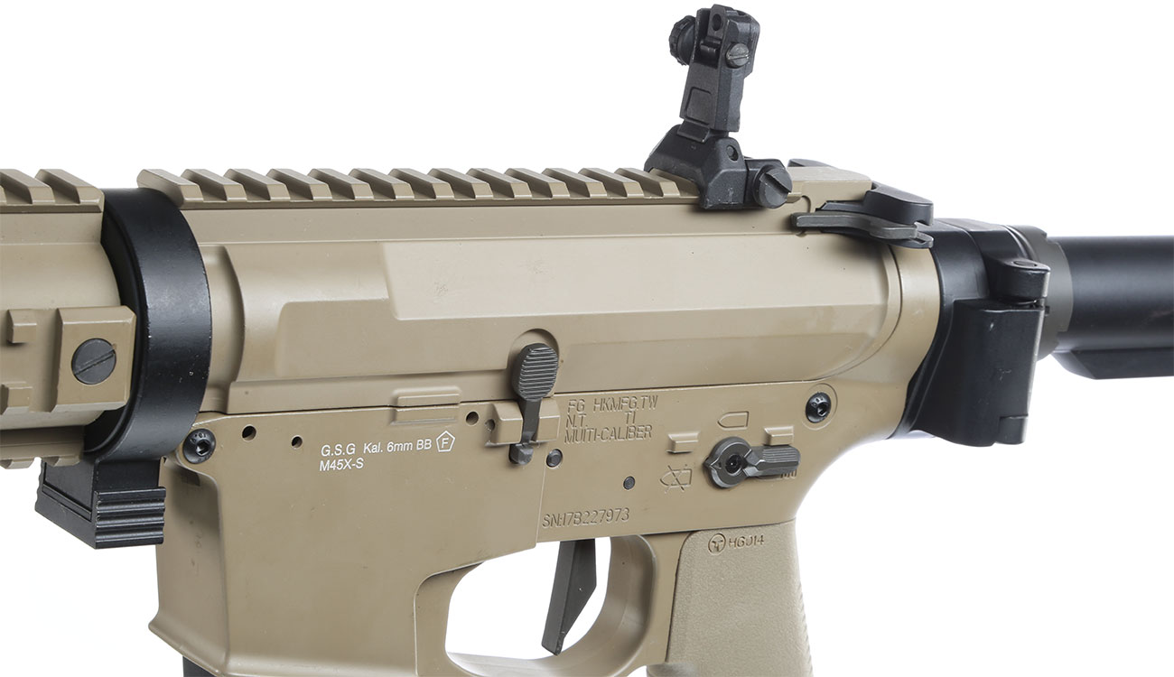 Ares M45X-S X-Class Vollmetall EFC-System S-AEG 6mm BB Dark Earth 7