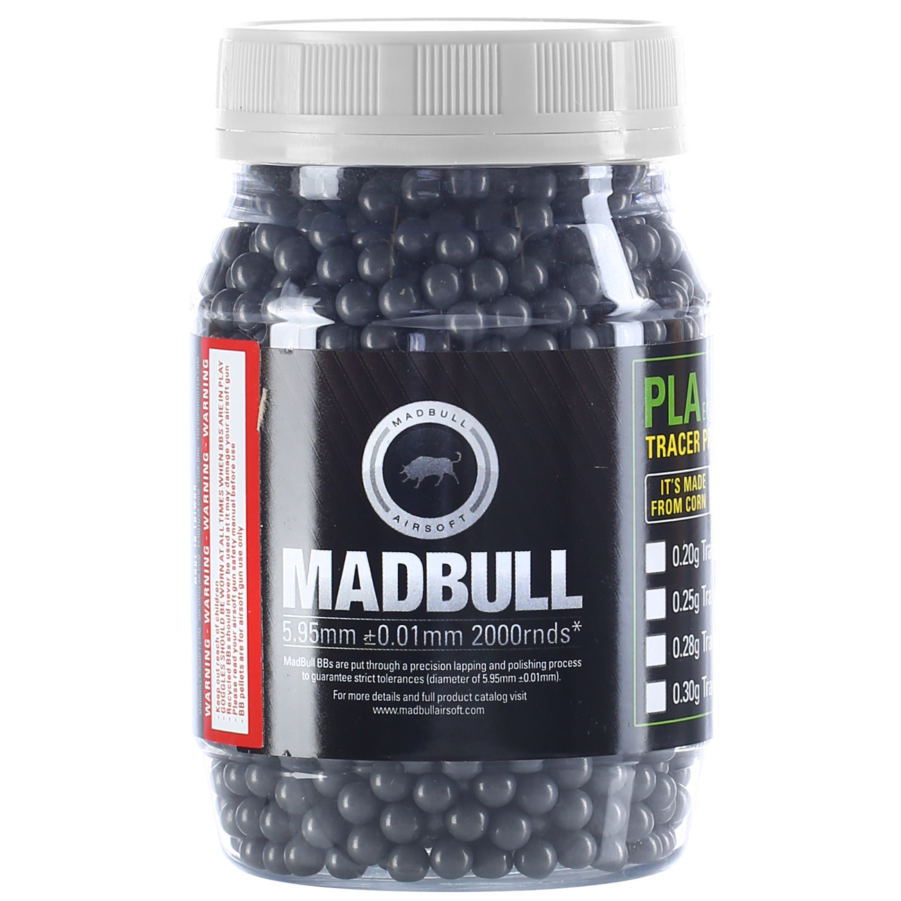 MadBull Ultimate Stainless Series BBs 0.50g 2.000er Container grau 0