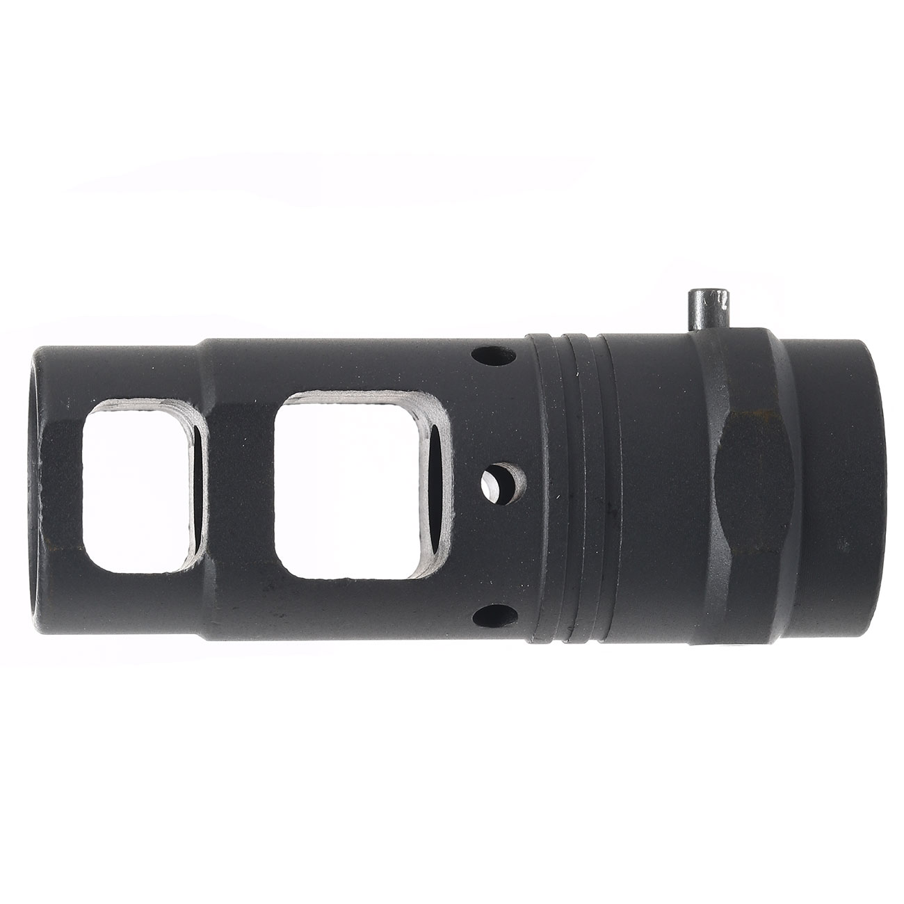 Ares Aluminum Type-C Flash-Hider f. Blast Shield schwarz 14mm+ 2
