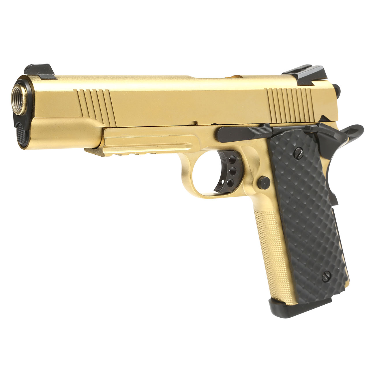 Nuprol Raven M1911 MEU Railed Vollmetall GBB 6mm BB gold 0