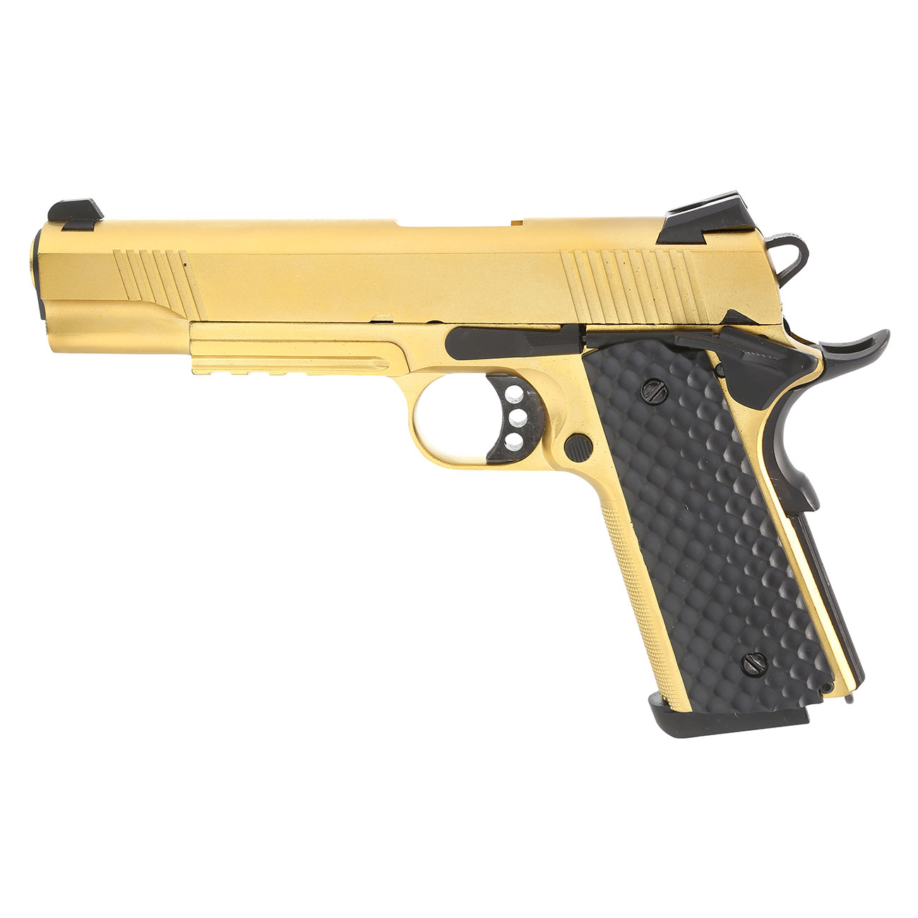 Nuprol Raven M1911 MEU Railed Vollmetall GBB 6mm BB gold 1