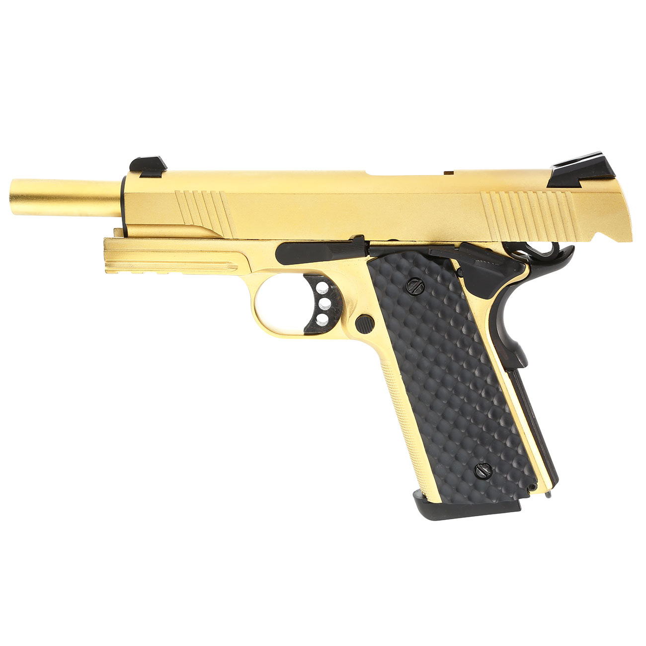 Nuprol Raven M1911 MEU Railed Vollmetall GBB 6mm BB gold 2
