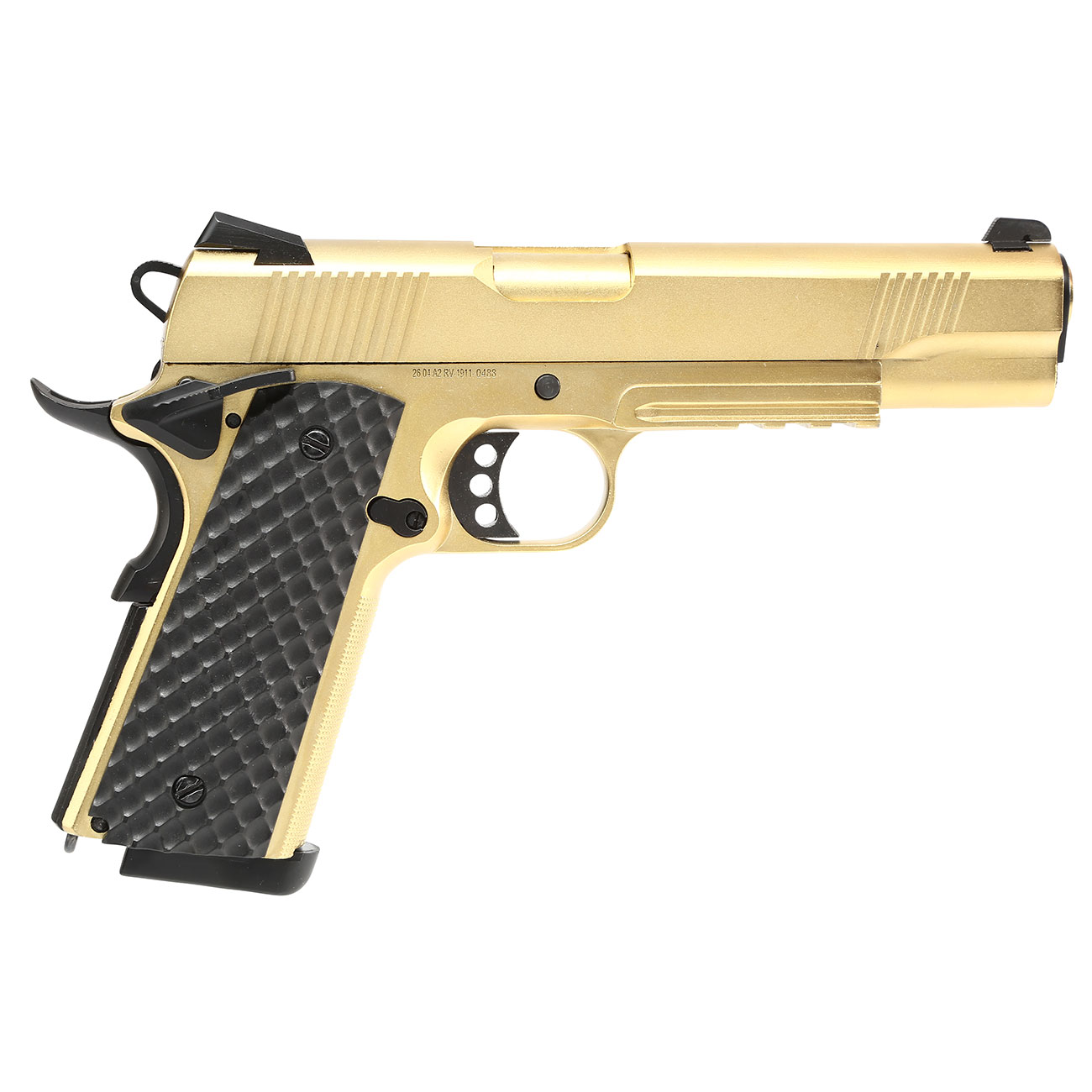 Nuprol Raven M1911 MEU Railed Vollmetall GBB 6mm BB gold 3