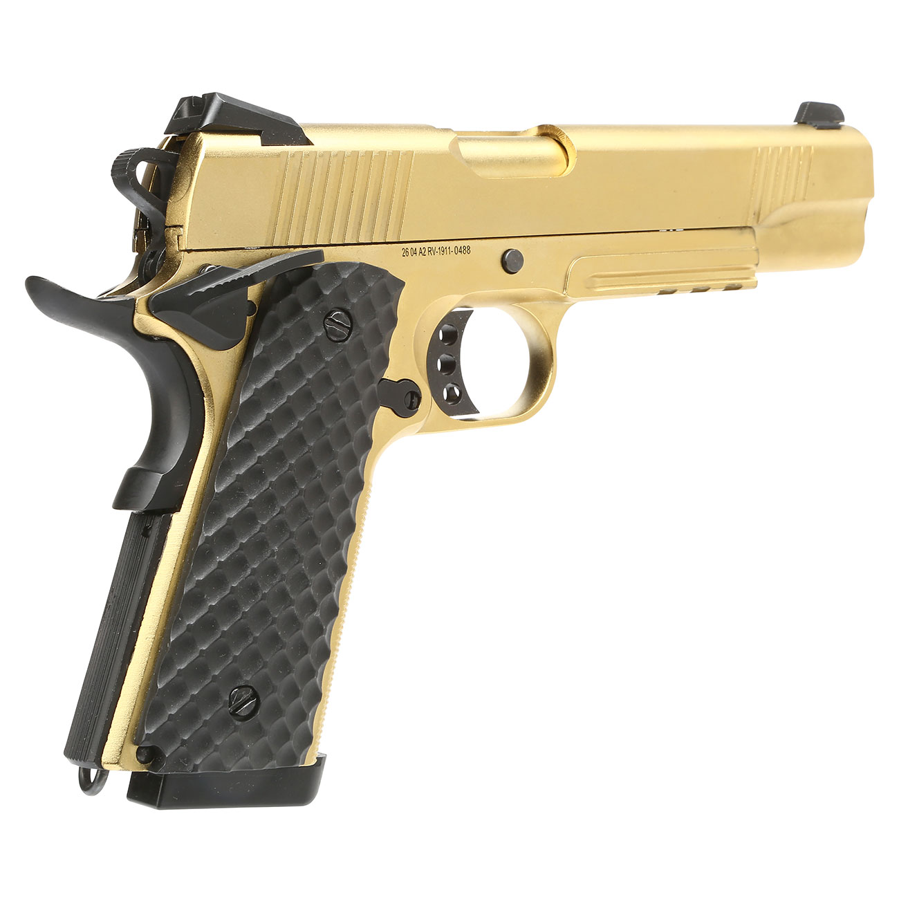 Nuprol Raven M1911 MEU Railed Vollmetall GBB 6mm BB gold 4