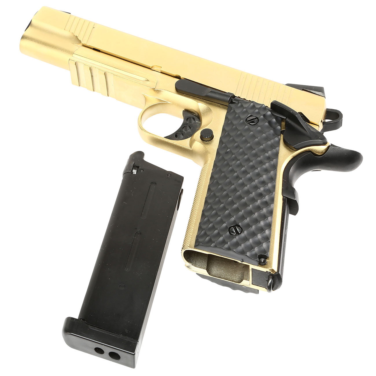 Nuprol Raven M1911 MEU Railed Vollmetall GBB 6mm BB gold 6
