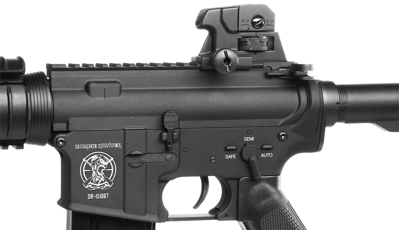SRC SR4 CQB-R Vollmetall CO2 Non-Blow-Back 6mm BB schwarz 8