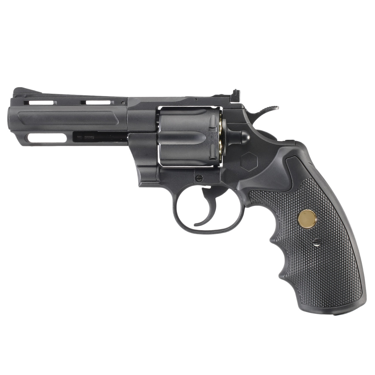 King Arms .357 Magnum Custom I 4 Zoll Revolver Vollmetall CO2 6mm BB schwarz 1