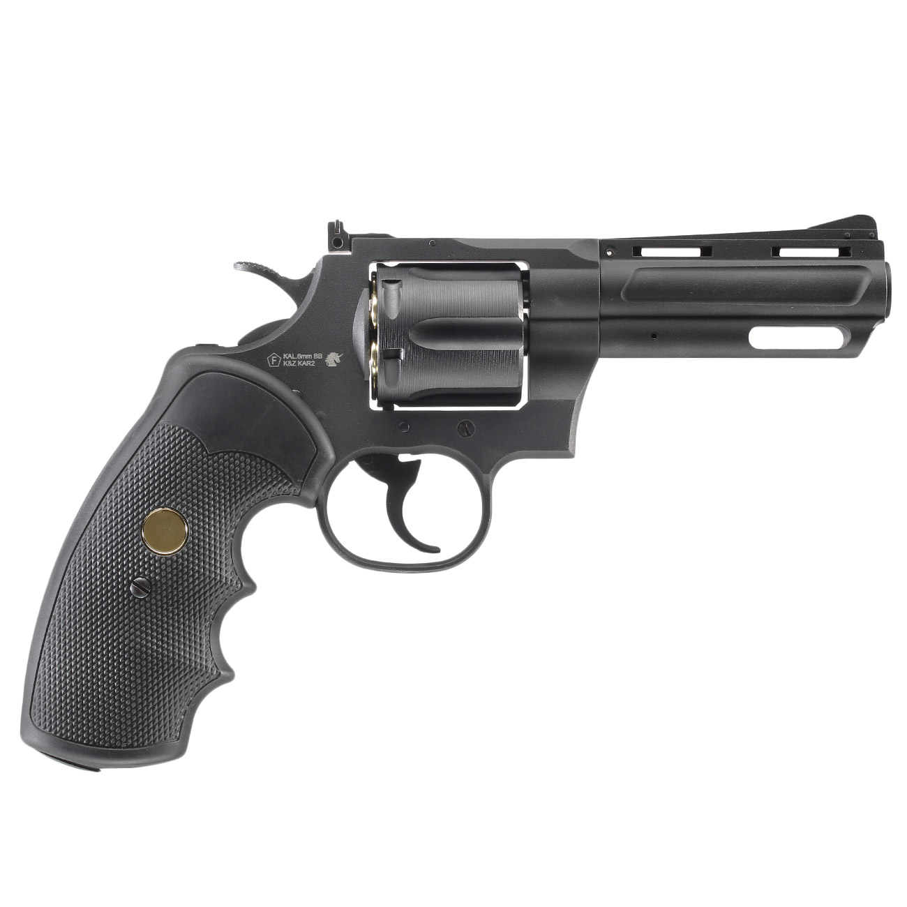 King Arms .357 Magnum Custom I 4 Zoll Revolver Vollmetall CO2 6mm BB schwarz 2