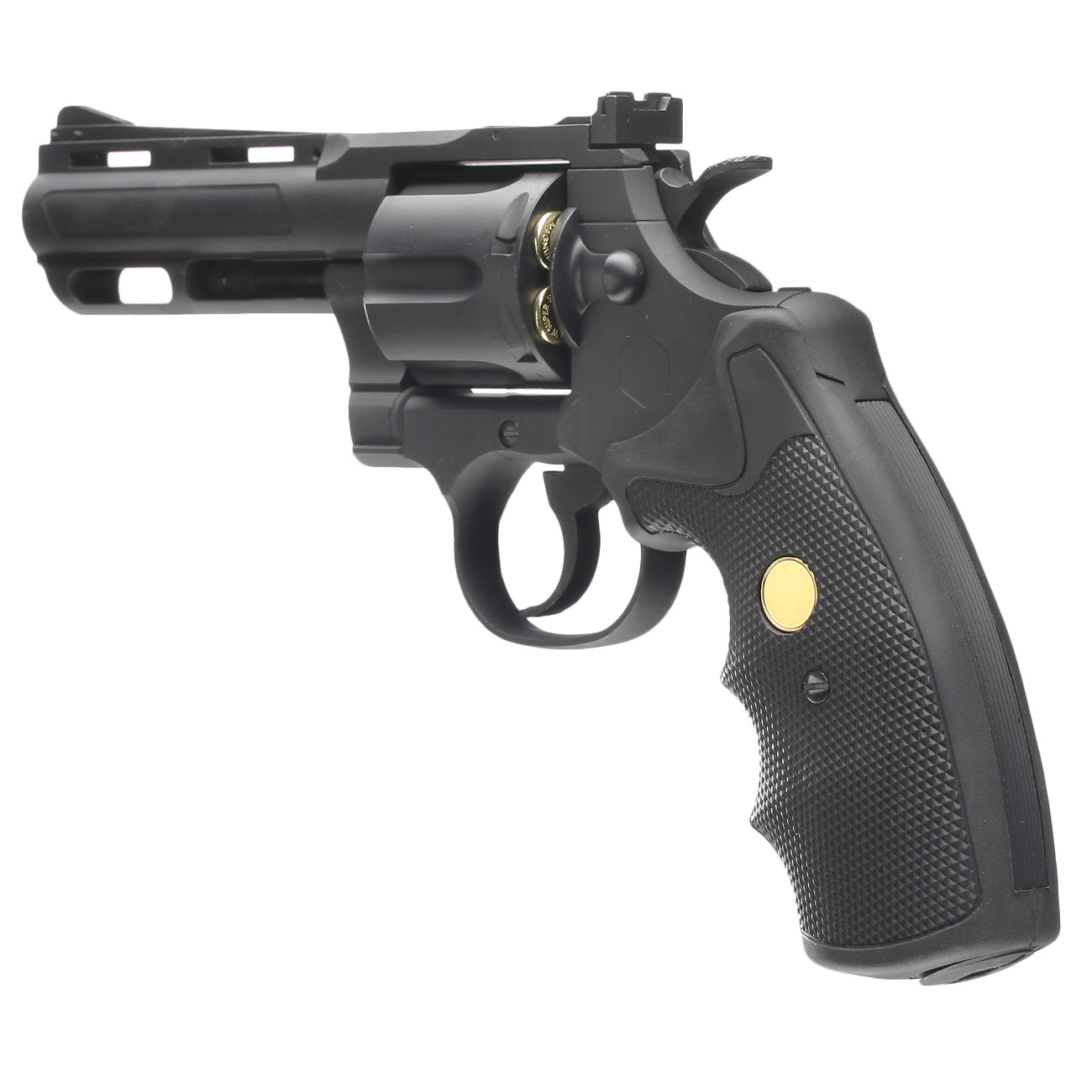 King Arms .357 Magnum Custom I 4 Zoll Revolver Vollmetall CO2 6mm BB schwarz 3